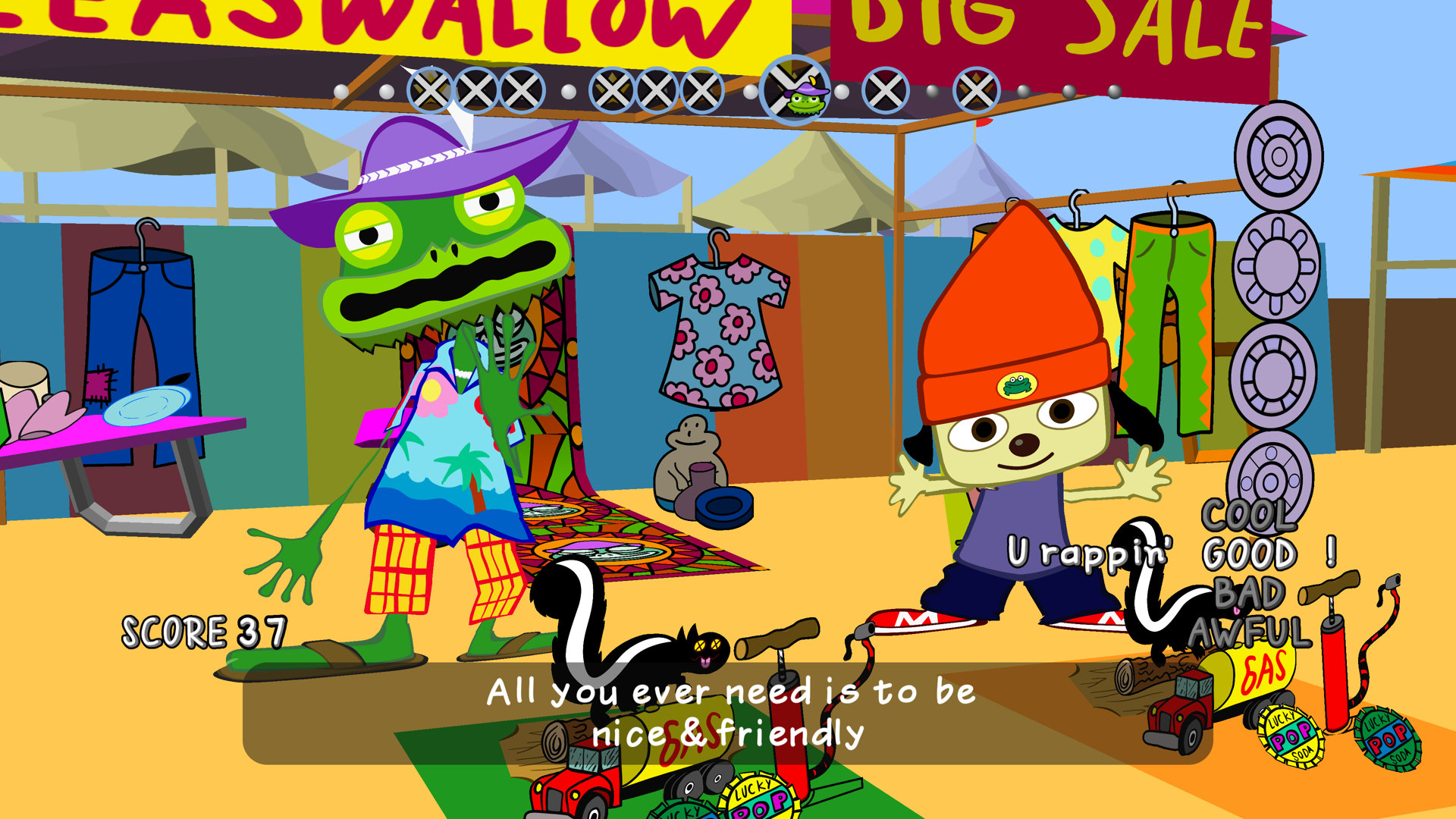 Game image PaRappa the Rapper