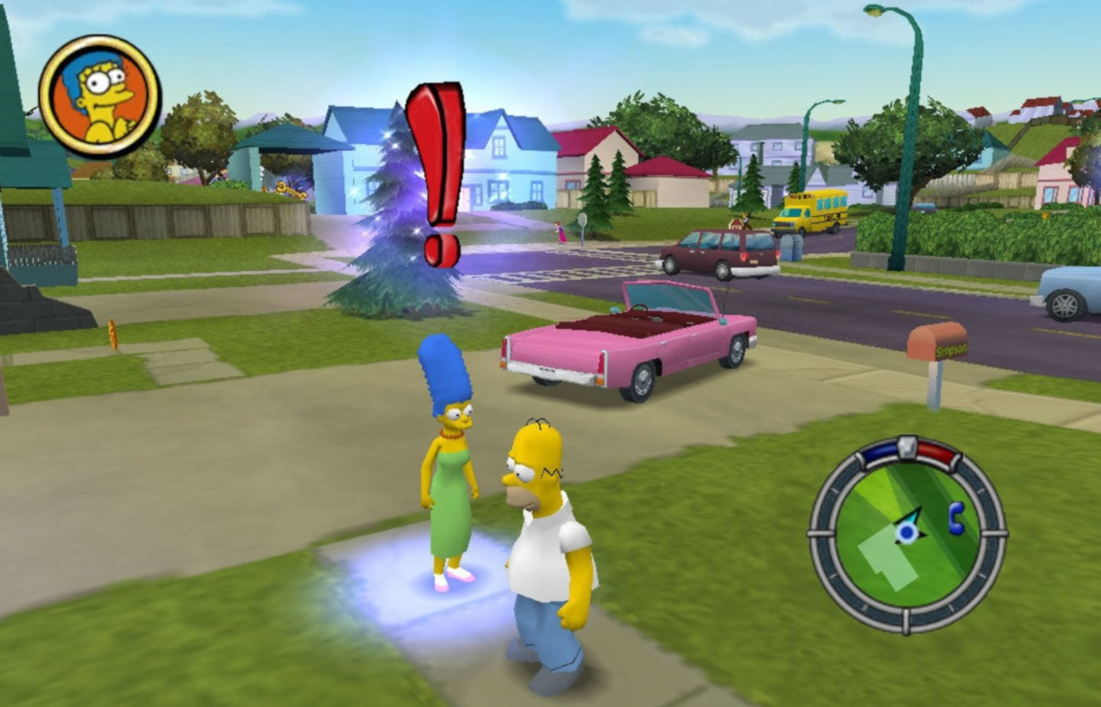Game image The Simpsons Hit and Run