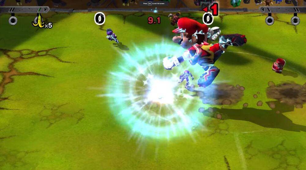 Game image Mario Strikers Charged