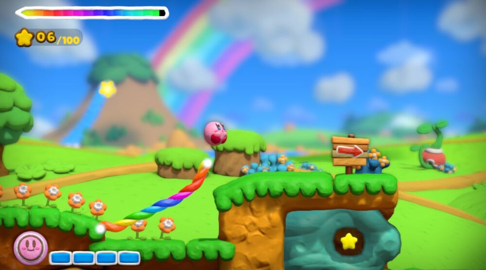 Game image Kirby and the Rainbow Curse
