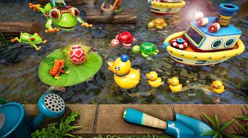 Game image Frogger In Toy Town